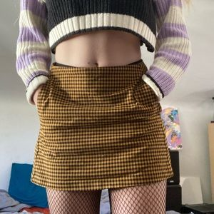 UO plaid mini skirt